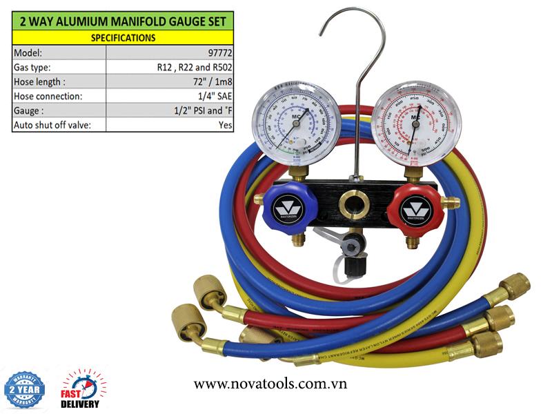 ĐỒNG HỒ SẠC GAS R12, R22 & R502 MASTERCOOL 97772
