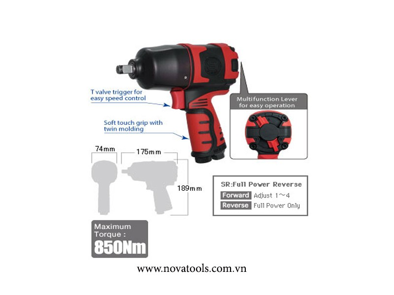 SÚNG XIẾT BULONG SHINANO IMPACT WRENCH 1/2""